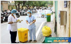 Hình ảnh thu gom rác thải y tế